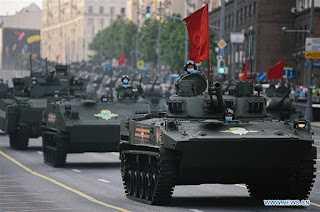 parade tank militer rusia