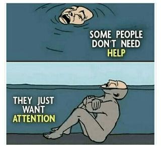 dia butuh perhatian meme