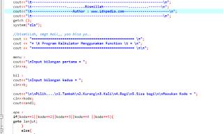 Contoh Program C++ Kalkulator