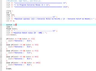 Contoh program sederhana c++